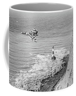 Vulcan Passing Beachy Head Bw Version Coffee Mug by Gary Eason
