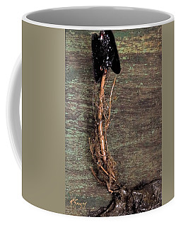 Vulture With Green Brown Background Coffee Mug