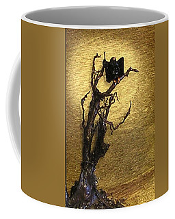 Vulture With Textured Sun Coffee Mug