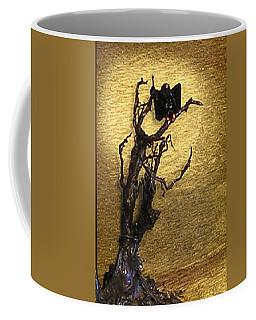 Vulture With Textured Sun Coffee Mug