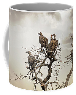 Vultures In A Dead Tree.  Coffee Mug
