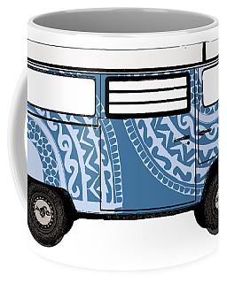 Vw Blue Van Coffee Mug