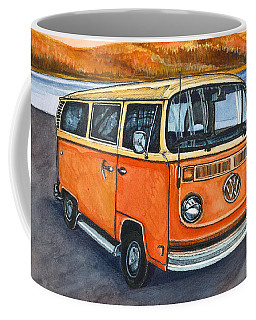 Coffee Mug featuring the painting Ryan's Magic Bus by Katherine Miller