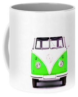 Vw Van Green Painting Coffee Mug