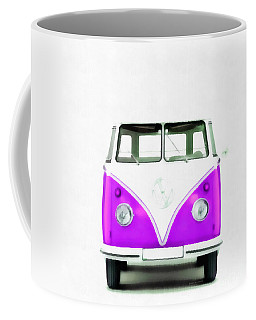 Vw Van Purple Painting Coffee Mug