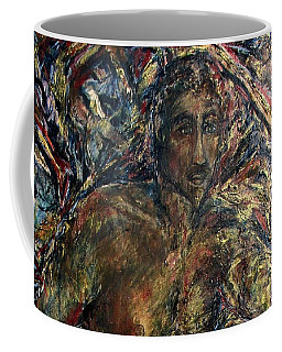 Coffee Mug featuring the painting W1 by Dawn Fisher