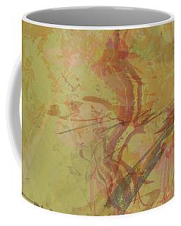 Wabi Sabi Ikebana Rose On Yellow Green Coffee Mug