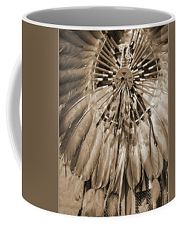 Coffee Mug featuring the photograph Wacipi Dancer In Sepia by Heidi Hermes