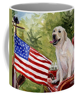 Coffee Mug featuring the painting Wag The Flag by Molly Poole