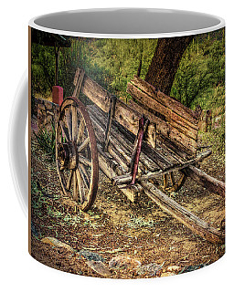 Wooden Cart  At Tanque Verde Ranch Coffee Mug