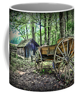 Wagon At The Cabin Coffee Mug by Paul Ward