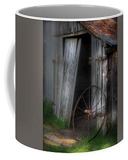 Wagon Wheel And Barn Door Coffee Mug by David and Carol Kelly