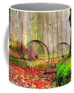 Wagon Wheels And Autumn Leaves Coffee Mug