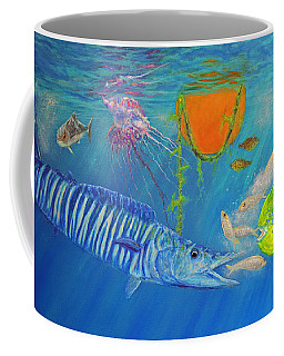 Wahoo Dolphin Painting Coffee Mug