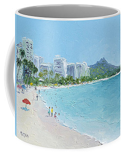 Waikiki Beach Honolulu Hawaii Coffee Mug by Jan Matson