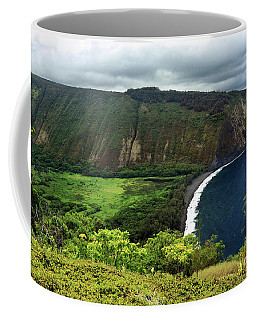 Waipio Valley Coffee Mug by James Eddy