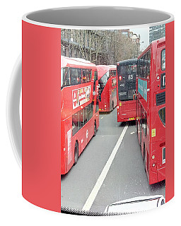 Wait For One And A Dozen Comes Along - Elephant And Castle - London Coffee Mug by Mudiama Kammoh