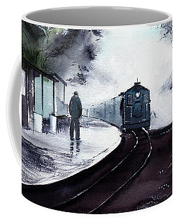 Coffee Mug featuring the painting Waiting by Anil Nene