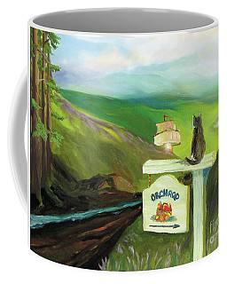 Coffee Mug featuring the painting Waiting For Andy by Donna Hall