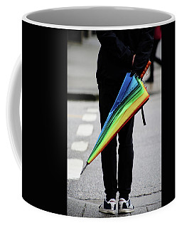 Coffee Mug featuring the photograph Waiting For Superman  by Empty Wall