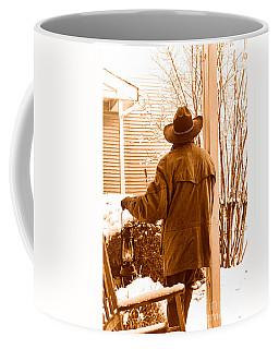 Waiting For The Storm - Sepia Coffee Mug