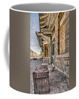 Coffee Mug featuring the photograph Waiting For The Train by Gaelyn Olmsted
