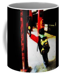 Coffee Mug featuring the photograph Waiting On The Q Train In Flatbush by Iowan Stone-Flowers
