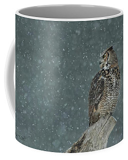 Waiting Out The Snowstorm Coffee Mug by CR Courson