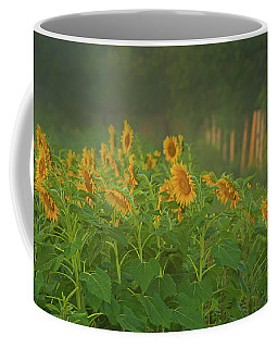 Waking Up Coffee Mug by CR Courson