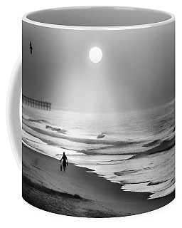 Coffee Mug featuring the photograph Walk Beneath The Moon by Karen Wiles
