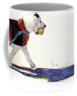 Coffee Mug featuring the painting Walk In The Park by Molly Poole