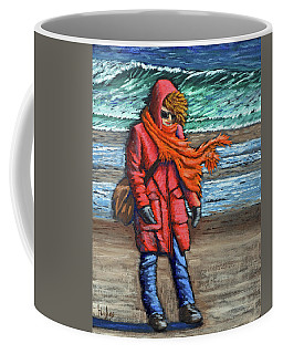 Walk On Beach Coffee Mug