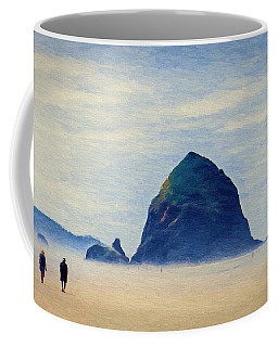 Walk On The Beach Coffee Mug by Jeff Kolker