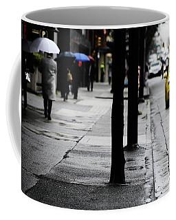Walk Or Cab Coffee Mug by Empty Wall