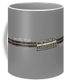 Walk The Line Light Lettering Coffee Mug by Heather Applegate