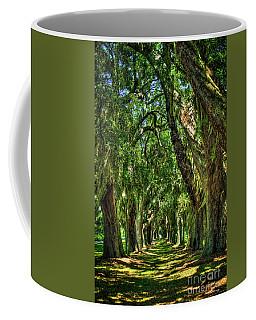 Coffee Mug featuring the photograph Walk With Me Avenue Of Oaks St Simons Island Art by Reid Callaway
