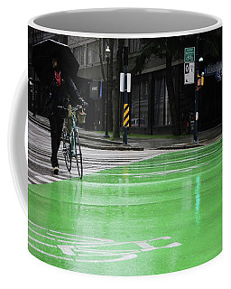Coffee Mug featuring the photograph Walk With Wheels  by Empty Wall