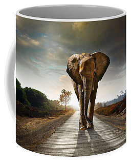 Walking Elephant Coffee Mug by Carlos Caetano