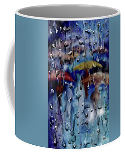 Coffee Mug featuring the digital art Walking In The Rainfall by Darren Cannell