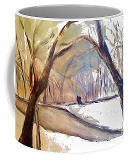 Walking In White Coffee Mug