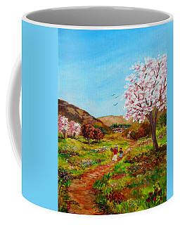 Walking Into The Springfields Coffee Mug
