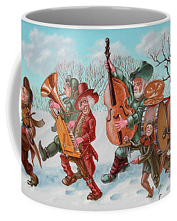 Walking Musicians Coffee Mug