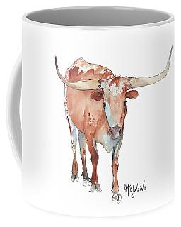 Walking Tall Texas Longhorn Watercolor And Ink By Kmcelwaine Coffee Mug