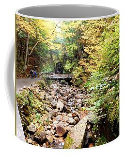 Walking The Flume Coffee Mug by Catherine Gagne