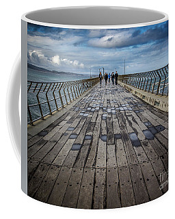 Walking The Pier Coffee Mug by Perry Webster