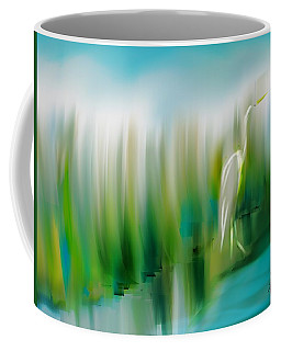 Coffee Mug featuring the digital art Walking The Pond by Frank Bright