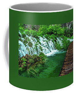 Walking Through Waterfalls - Plitvice Lakes National Park, Croatia Coffee Mug