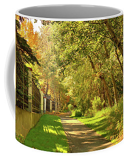 Walking Under Poplars Coffee Mug