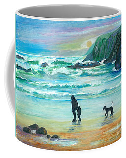 Walking With Grandpa - Painting Coffee Mug