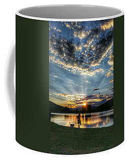 Walking With My Best Friend Coffee Mug by Fiona Kennard